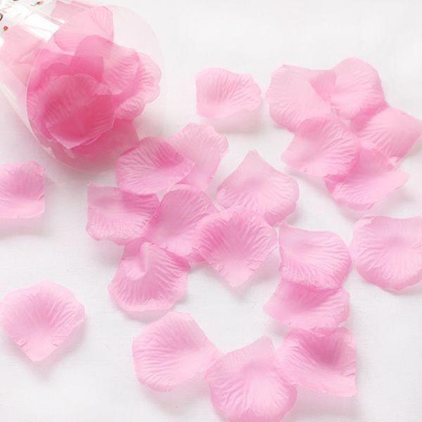 조화꽃잎 핑크 100장 - 플라워샤워 실크꽃잎
