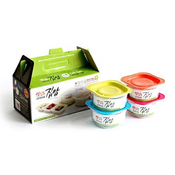맛잇는 냉동밥 밀폐용기 3호 4개입