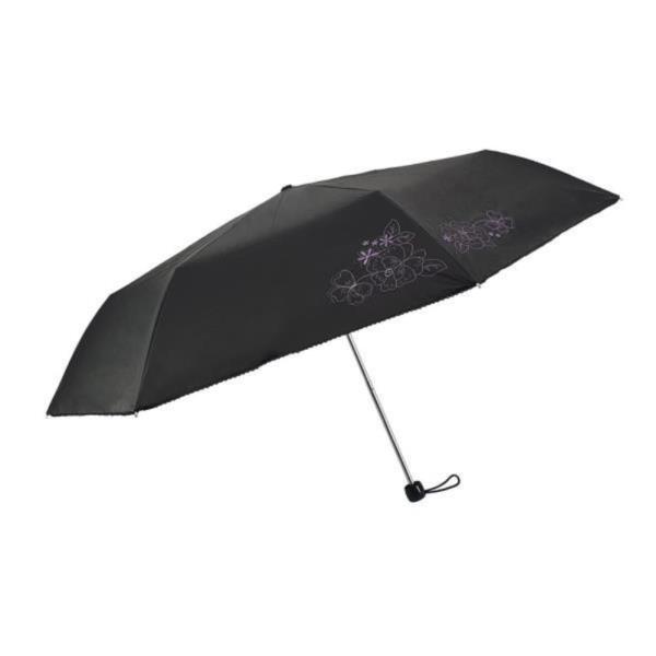 심플 플라워자수 단색우산 3단양우산