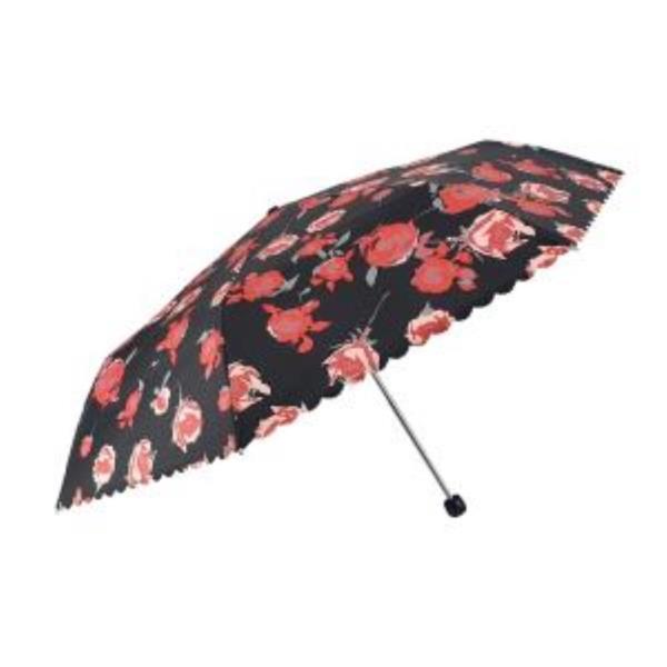 예쁜 끝단 장미꽃 3단 암막양산우산