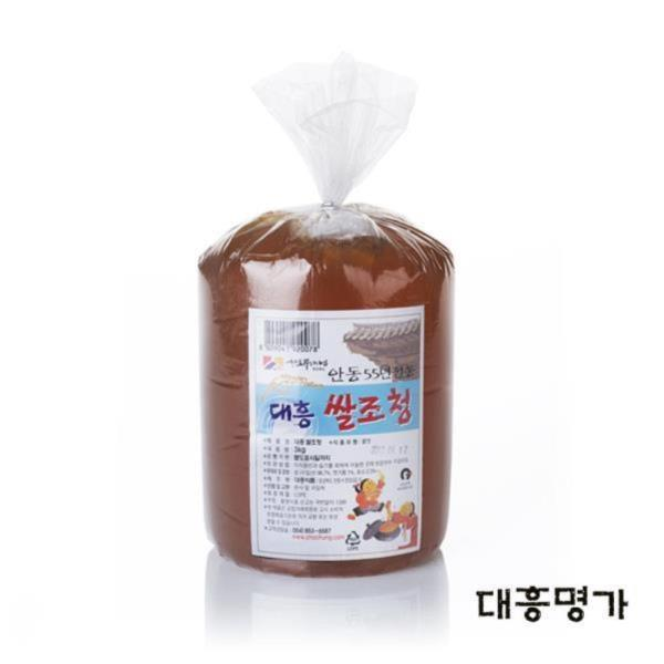 쌀조청 3kg 벌크 전통조청 물엿 쌀엿 조청물엿 물엿대