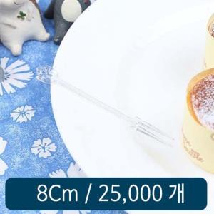 일회용 미니포크 투명 8cm 벌크 25000개 1박스
