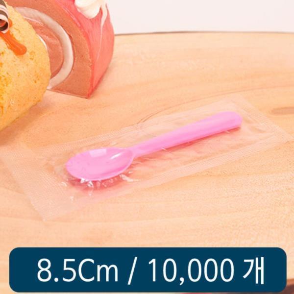 아이스크림 스푼 8.5cm 분홍 개별 C형 1봉 1000개