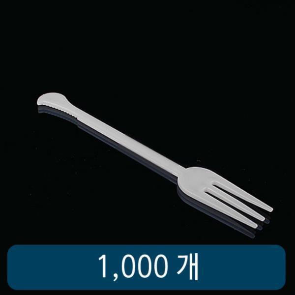 어묵포크 11Cm 백색 세날 벌크 1봉 1000개