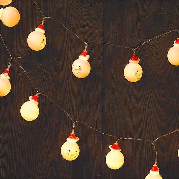 크리스마스 LED 꼬마 트리 산타 눈사람 전구 조명