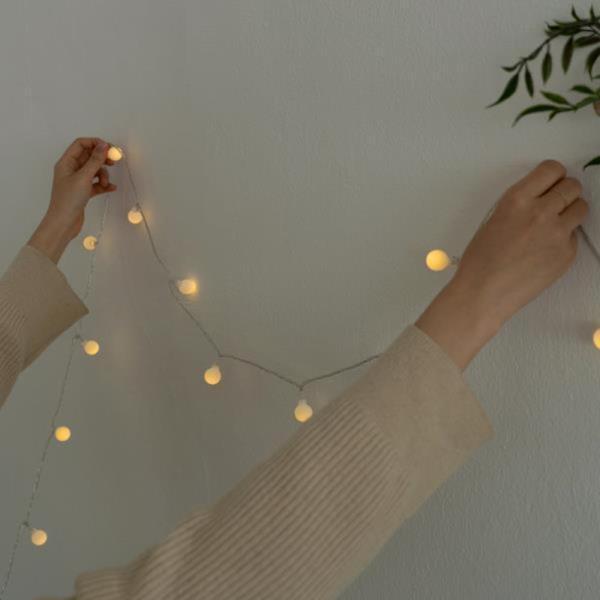 크리스마스 미니 전구 LED 트리 꼬마 앵두 조명 10m