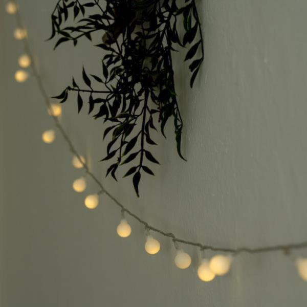 크리스마스 벽트리 LED 트리 앵두 눈꽃 전구 10m 80구