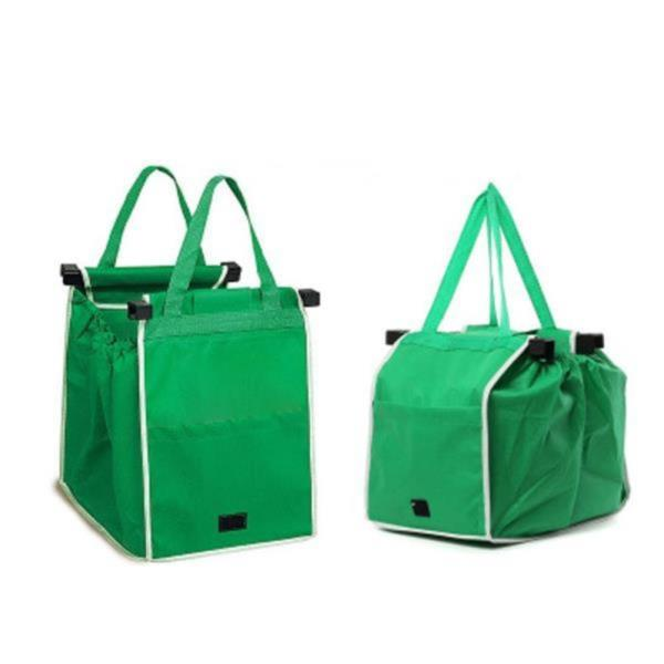 휴대용 부직포 카트 걸이 장바구니 시장가방 쇼핑백