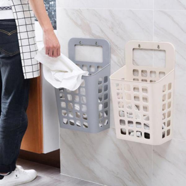 좁은세탁실 수건 빨래통 세탁물 바구니 걸이형 수납함