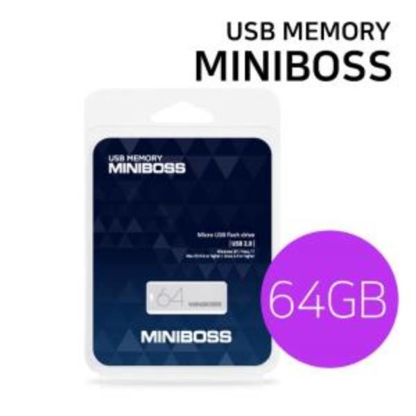 USB메모리 카드 (MINIBOSS) 64GB 미니 스윙형