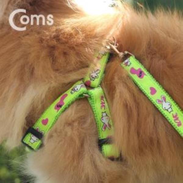 강아지애견 가슴줄 하네스 목줄 리드줄 그린 1.2M