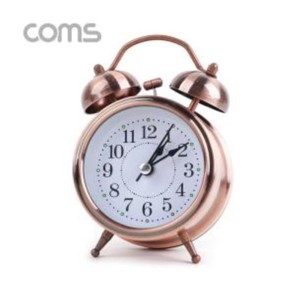 탁상용 아날로그 시계 로즈골드 알람시계 무소음