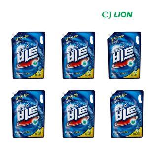 라이온 비트 세탁 세제 액체 일반용 리필 2.1L 6개