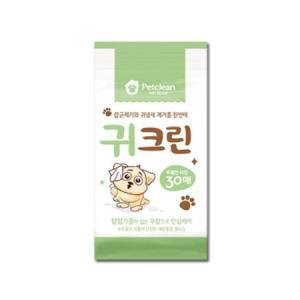 강아지 고양이 귀냄새와 잡균제거에 좋은 귀위생 물티슈 30매X3