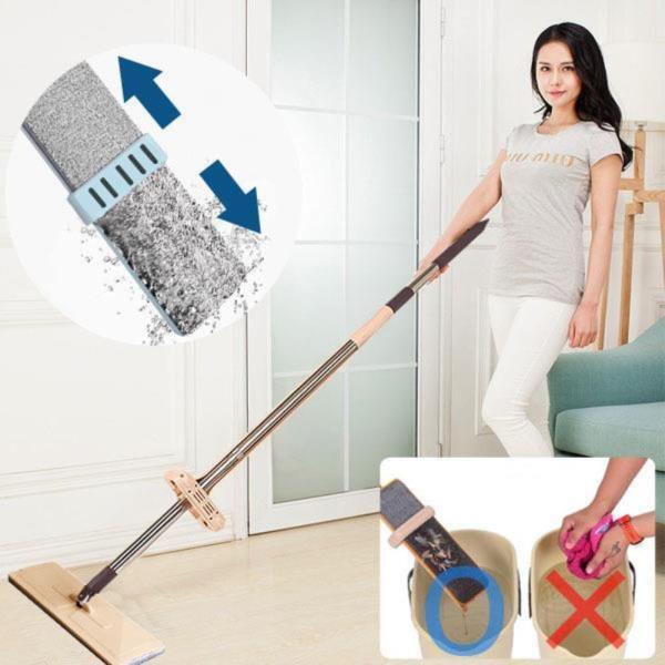 노터치 밀대걸레 38/42cm 간편세척 막대걸레 청소용품