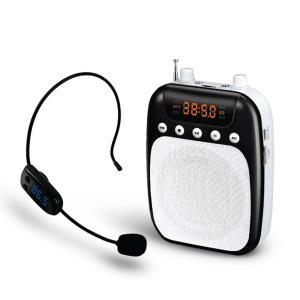 휴대용 FM 무선 마이크 앰프 스피커, 블랙