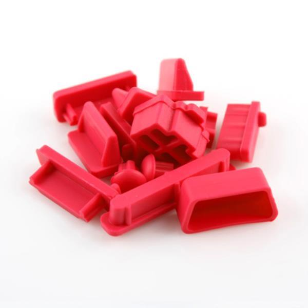 노트북 PC 포트 보호마개 13ea 실리콘 Red