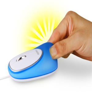 젤리 실리콘 유선 광마우스 1000DPI 블루