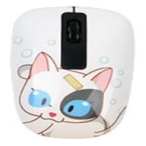 큐티 고양이캐릭터 유선광마우스 1000DPI 컴퓨터