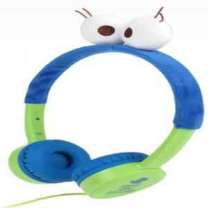 코스튬 디자인 키즈 청력보호 블루 유선헤드폰