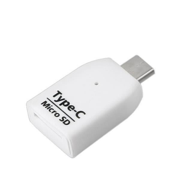 USB 3.1 카드리더기(Type C) Micro SD전용, 흰색