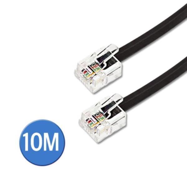 전화선 케이블 (RJ12/6P4C/검정) 10M