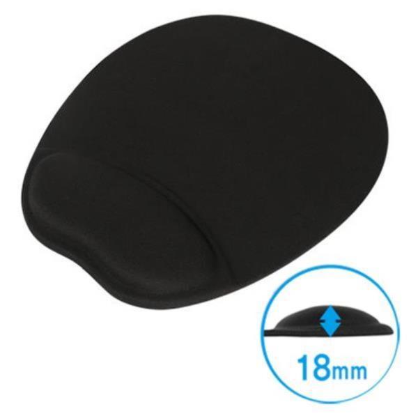 손목보호 마우스 젤 패드 블랙 미끄럼방지 18mm