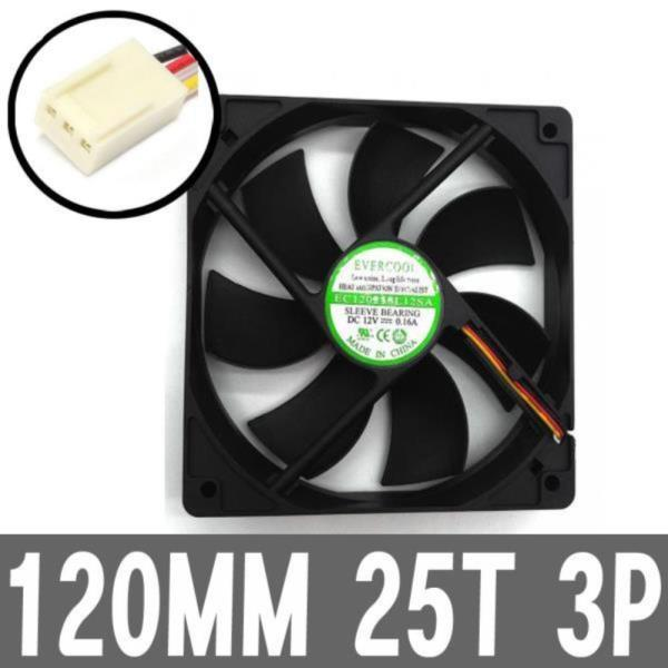 120MM 3P 저소음 컴퓨터 PC 케이스 쿨러 파워교체팬