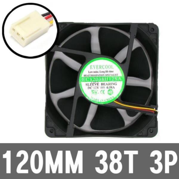 120MM 3P 고풍량 서버용 시스템 케이스 컴퓨터쿨러팬