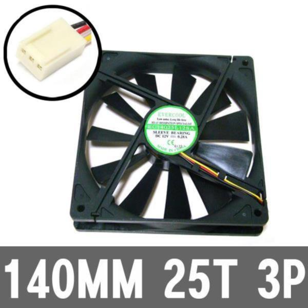 140MM 3P 저소음 컴퓨터 PC 케이스 시스템 쿨러 팬