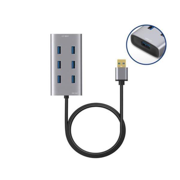 유전원 USB3.0허브 7포트 멀티 메모리 외장하드인식