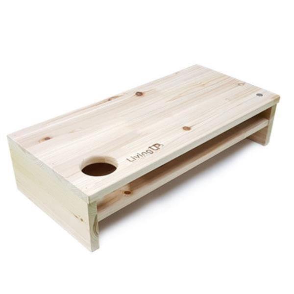 펜아저씨 원목자석모니터선반/2단 컵홀더형
