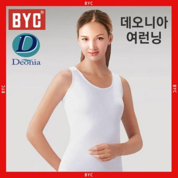 [BYC]여성 순면 데오니아(땀냄새방지)민소매여런닝(D7005)