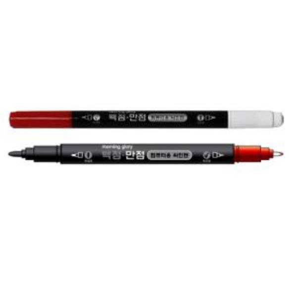 600 모닝글로리 백점만점 컴퓨터용 싸인펜 양면