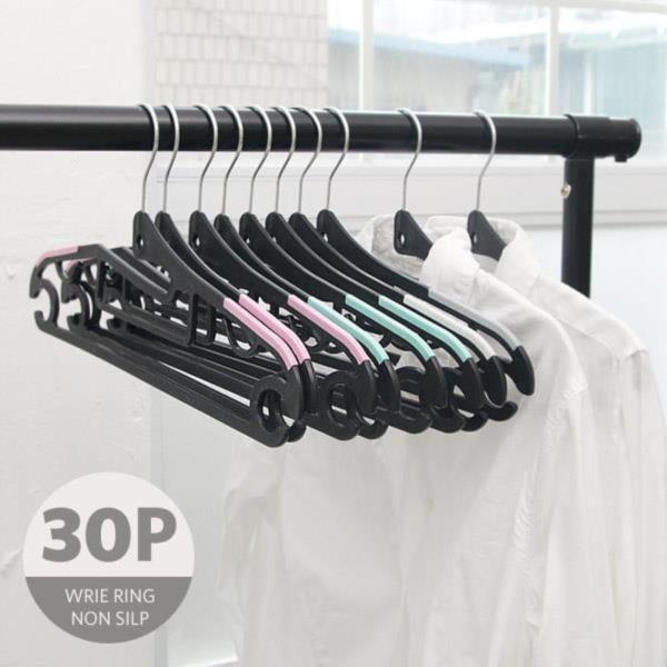 철사 회전형 고리 논슬립 옷걸이(30개)