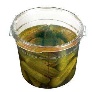 원형 식품보관용 투명저장용기 (용기커버 포함) 1개