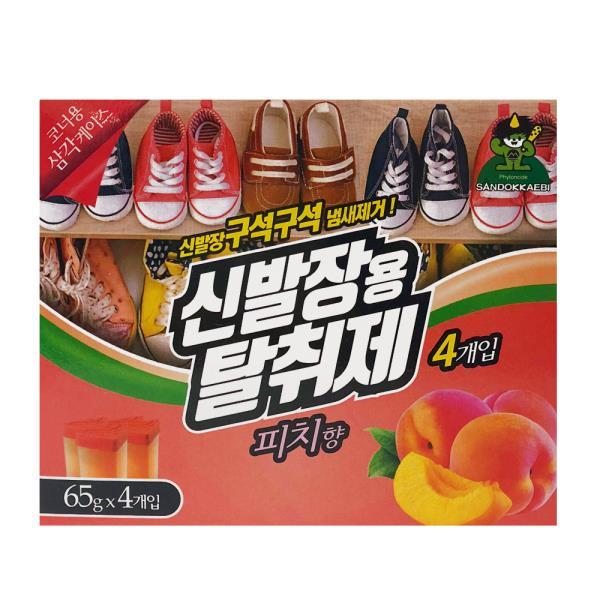 산도깨비 신발장용 탈취제 피치향65g 4p