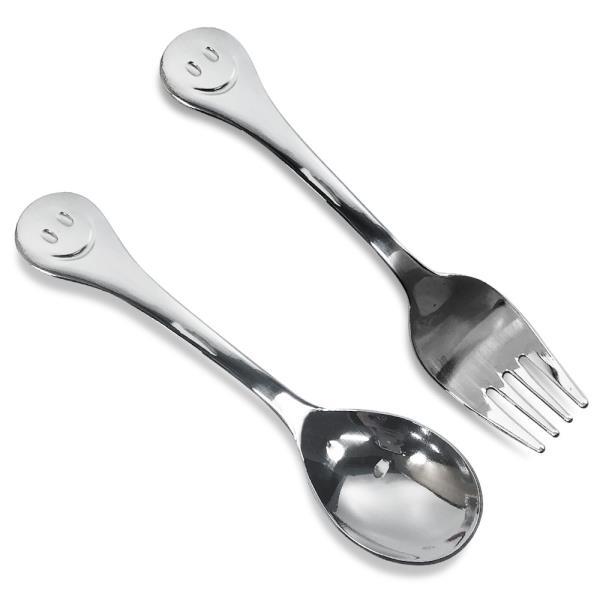 스텐 상일 스마일 유아용 포크 숟가락 어린이수저