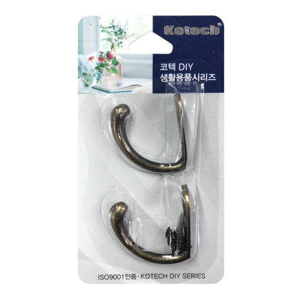 코텍 옷걸이 엔틱2P K-7677 가구 행주 후크