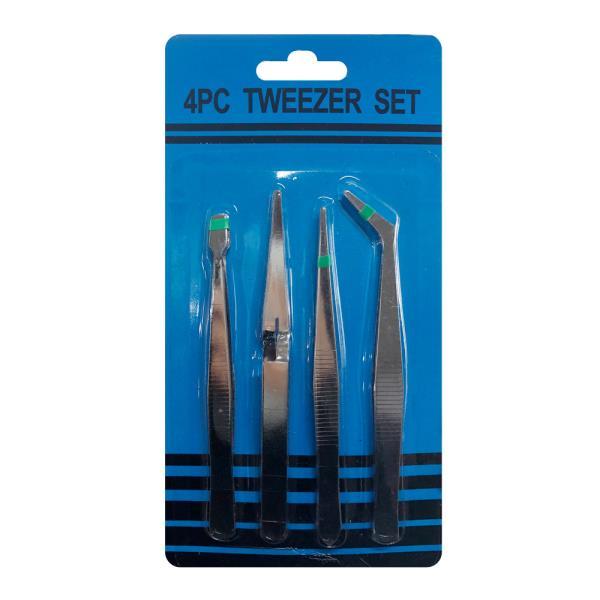 공구설비 핀셋세트4P 집게 의료핀셋 정밀핀셋