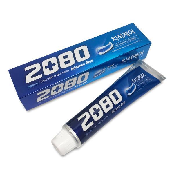 치약 애경 2080 어드밴스 블루치약 120g 치석케어