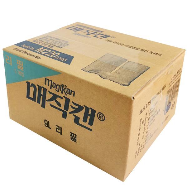 매직캔 쓰레기통 전용 리필봉투 M220 9L 5개입 휴지통