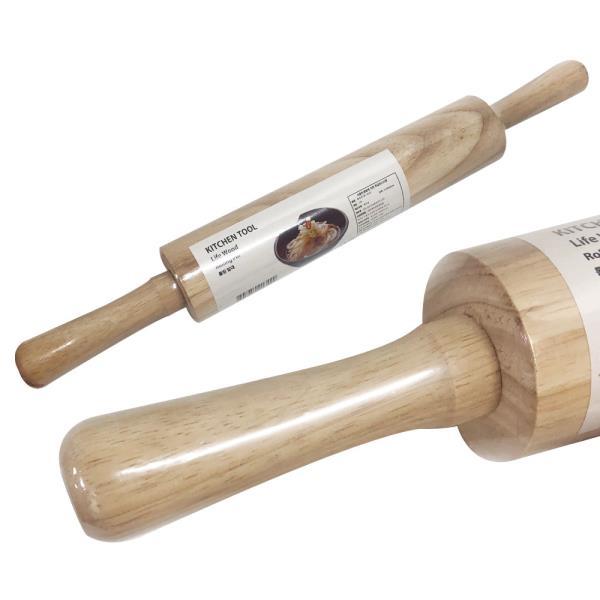 양손 롤러형 밀대(중)44x5 반죽밀대 만두 손잡이롤러