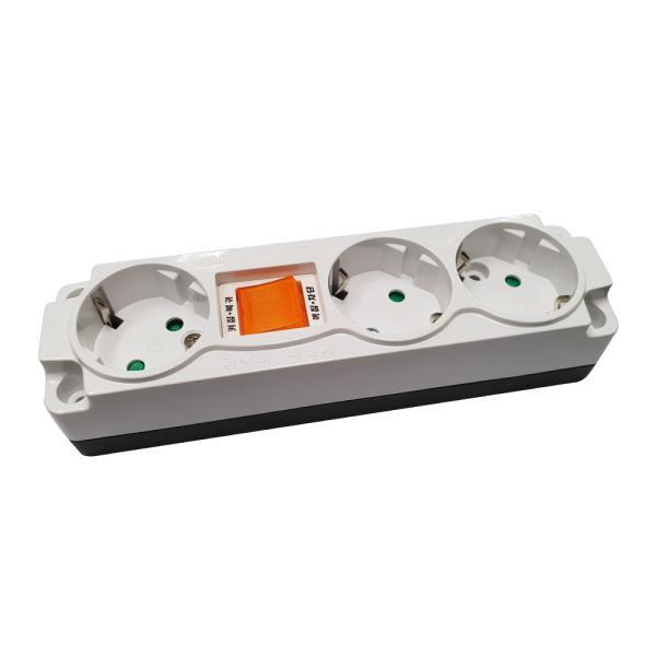 일신 과부하 차단노출(벌크) 3구 콘센트 1P 멀티탭