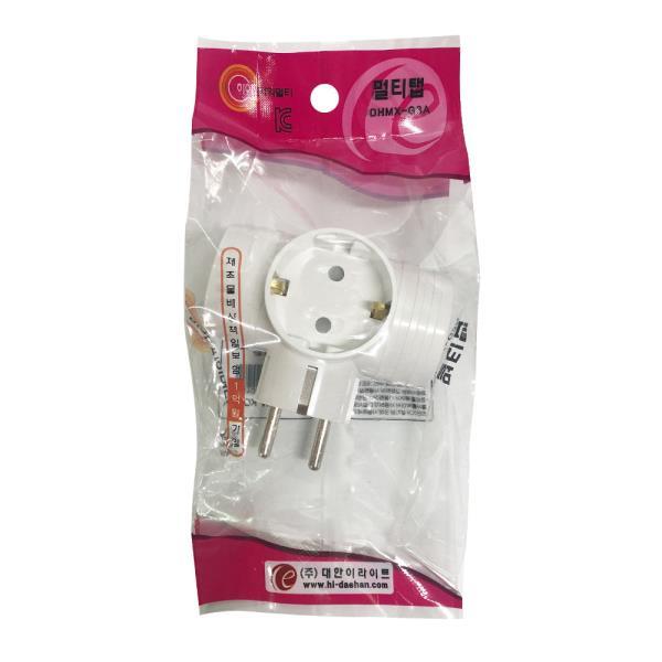 J대한 멀티탭 3구 T자형 (일반형) DHMX-G3A