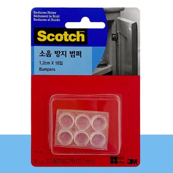 3M 소음방지 범퍼(18입)1.2cm 싱크대 선반 서랍