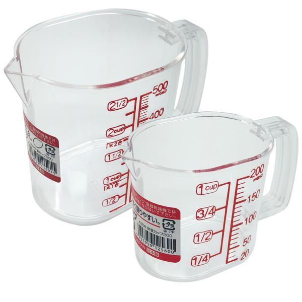 나카야 투명계량컵 선택 일본 베이킹 눈금 플라스틱