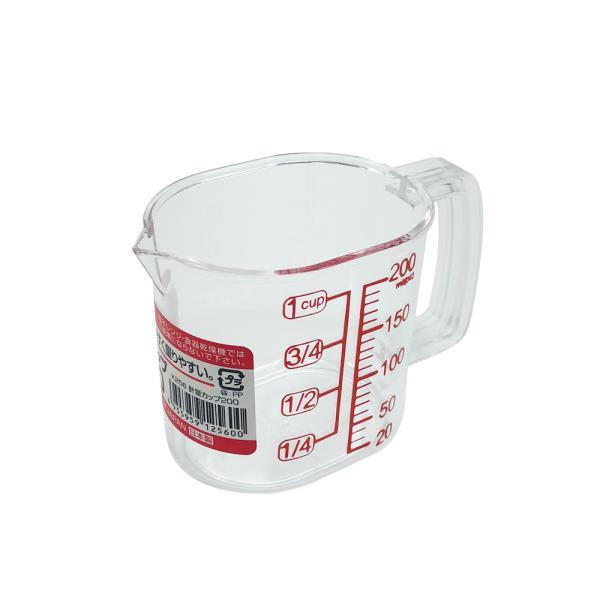 나카야 투명계량컵 200ml 일본 베이킹 눈금 플라스틱