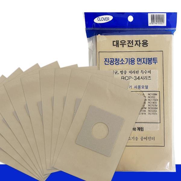대우 먼지봉투(10p) RCP-34 진공청소기용 종이필터