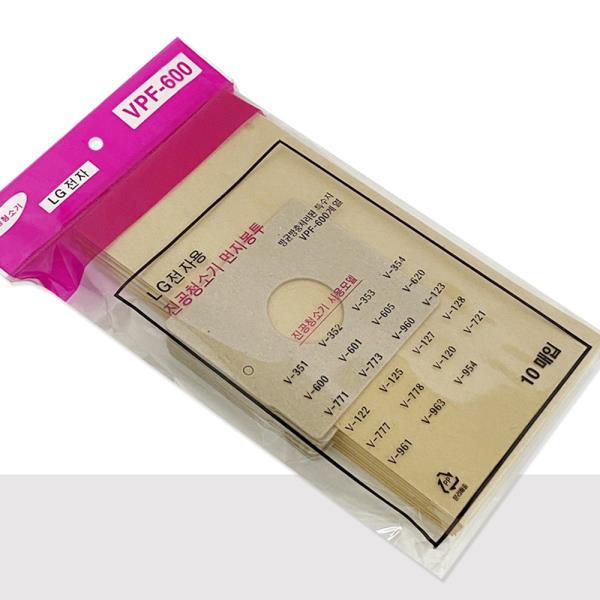 엘지 먼지봉투10p(VPF-600) 진공청소기용 종이필터